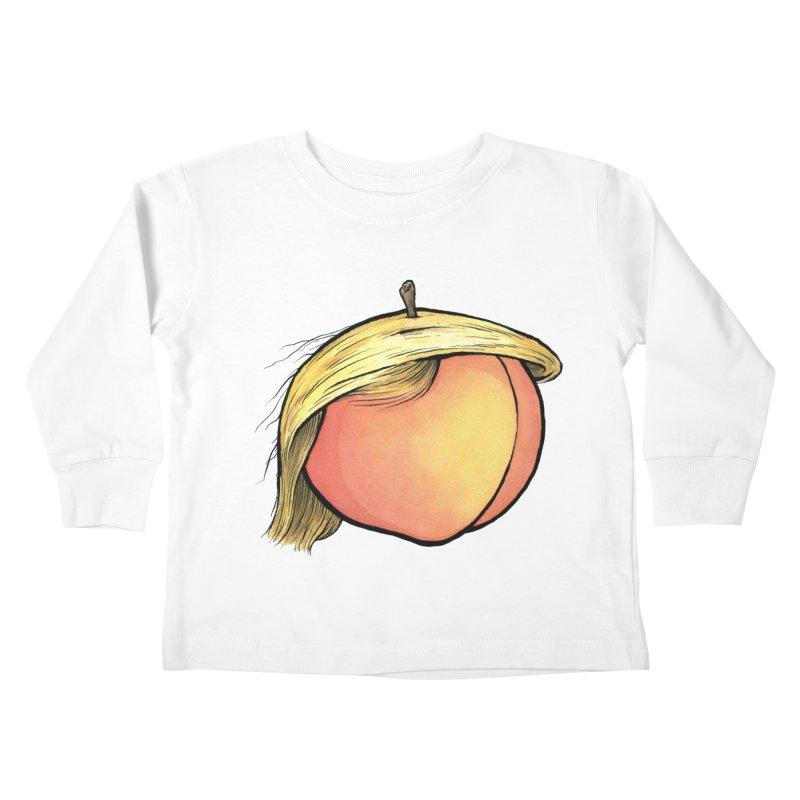 2019: The Year of the Peach Kids Toddler Longsleeve T-Shirt by Scott Teplin's Chazerai Bazaar
