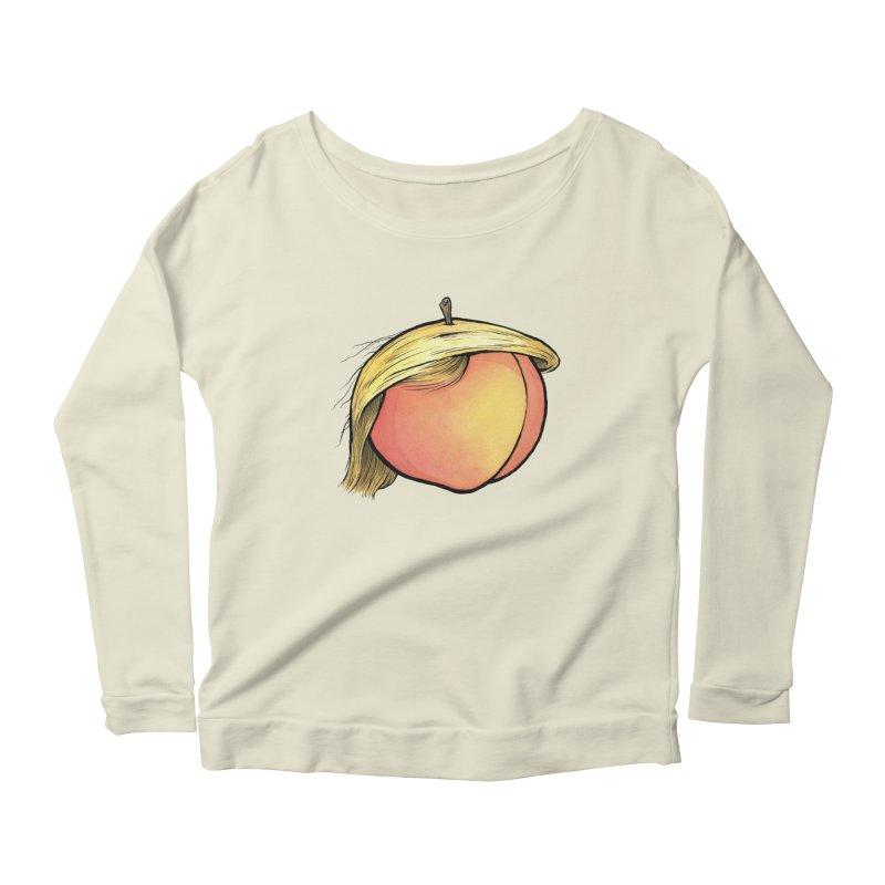 2019: The Year of the Peach Women's Scoop Neck Longsleeve T-Shirt by Scott Teplin's Chazerai Bazaar