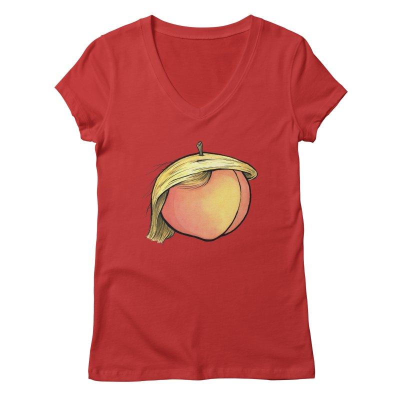2019: The Year of the Peach Women's Regular V-Neck by Scott Teplin's Chazerai Bazaar