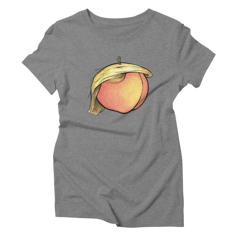 2019: The Year of the Peach Women's Triblend T-Shirt by Scott Teplin's Chazerai Bazaar