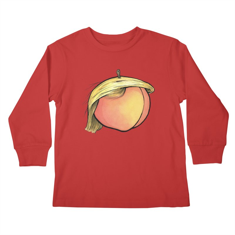 2019: The Year of the Peach Kids Longsleeve T-Shirt by Scott Teplin's Chazerai Bazaar