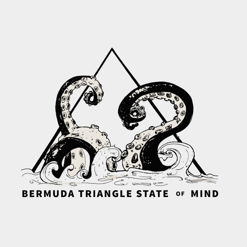 Bermuda Triangle State of Mind Men's Longsleeve T-Shirt by Tequila Sunday