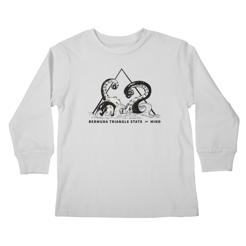 Bermuda Triangle State of Mind Kids Longsleeve T-Shirt by Tequila Sunday