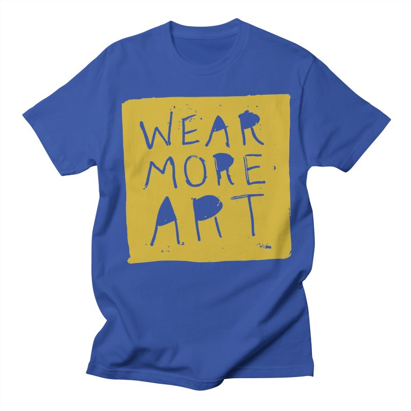 Wear More Art: Mustard in Men's Regular T-Shirt Royal Blue by Tequila Sunday