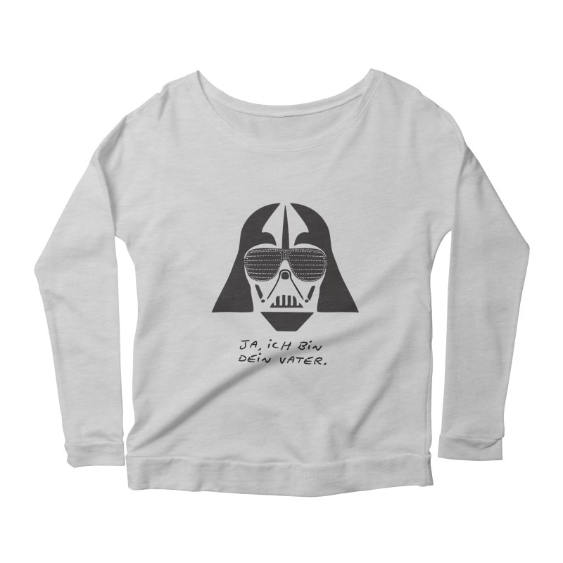 yes, I am your father Women's Longsleeve Scoopneck  by 8 TV Artist Shop