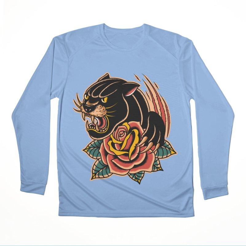 Black Panther Women's Longsleeve T-Shirt by TerpeneTom's Artist Shop