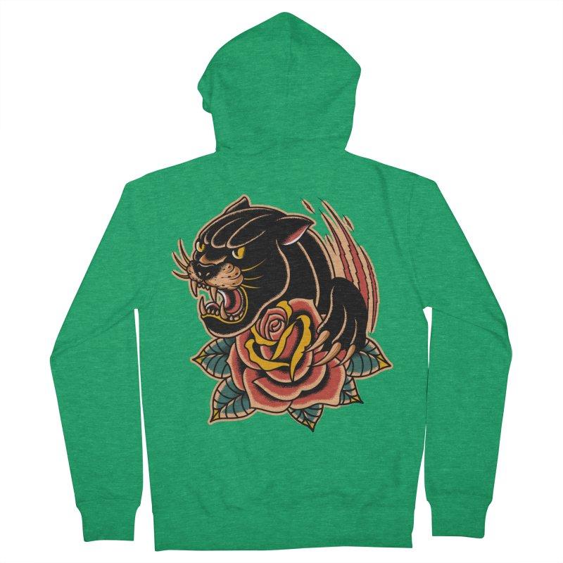 Black Panther Men's Zip-Up Hoody by TerpeneTom's Artist Shop