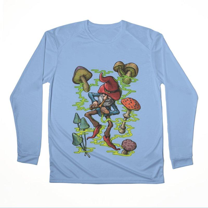 Smoking Gnome Women's Longsleeve T-Shirt by TerpeneTom's Artist Shop