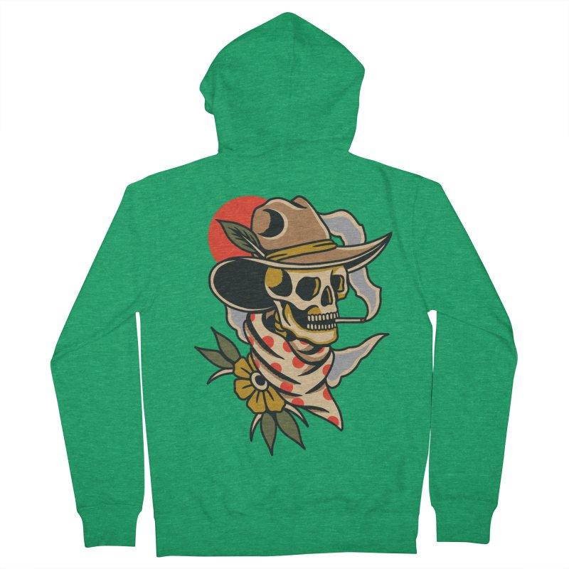 Quirky Cowboy Men's Zip-Up Hoody by TerpeneTom's Artist Shop