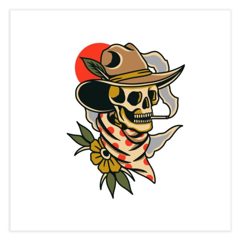 Quirky Cowboy Home Fine Art Print by TerpeneTom's Artist Shop