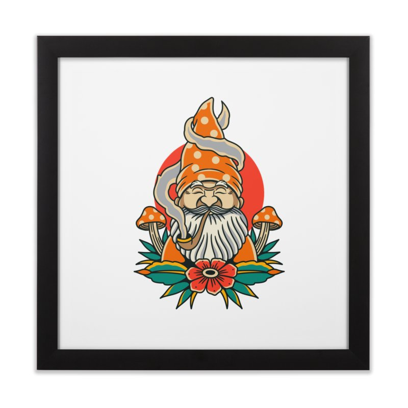 Garden Gnome Home Framed Fine Art Print by TerpeneTom's Artist Shop