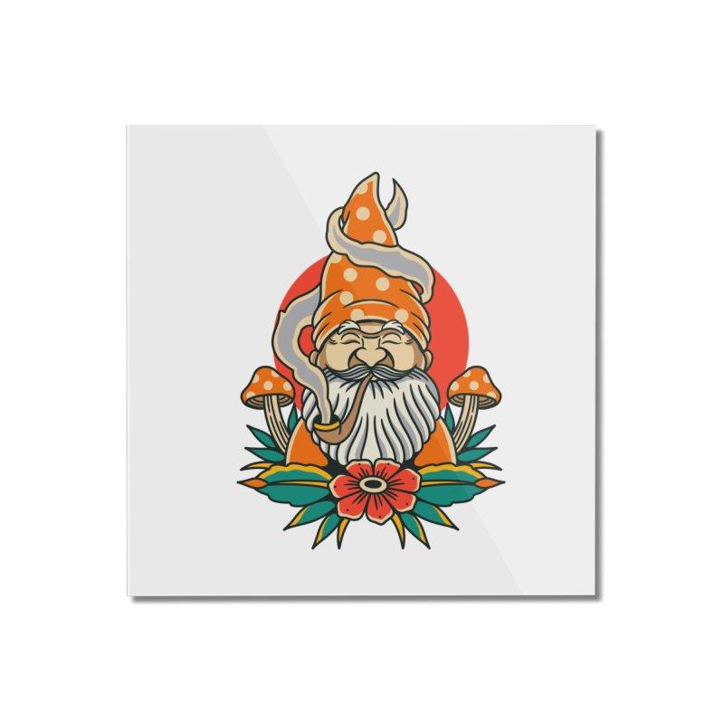 Garden Gnome Home Mounted Acrylic Print by TerpeneTom's Artist Shop