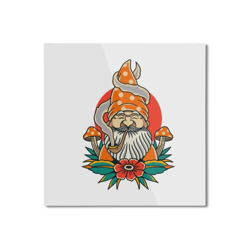 Garden Gnome Home Mounted Aluminum Print by TerpeneTom's Artist Shop