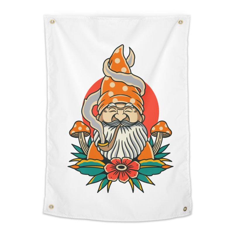 Garden Gnome Home Tapestry by TerpeneTom's Artist Shop