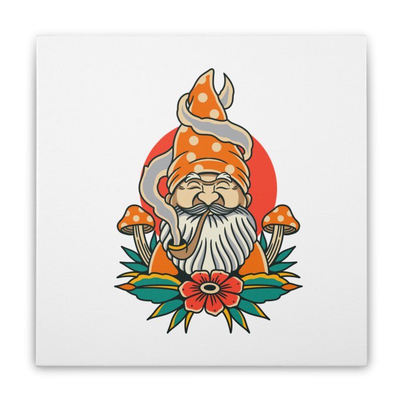 Garden Gnome Home Stretched Canvas by TerpeneTom's Artist Shop