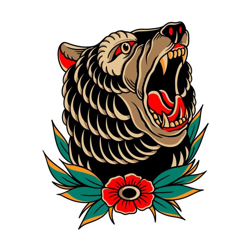 Wild Bear Women's Longsleeve T-Shirt by TerpeneTom's Artist Shop