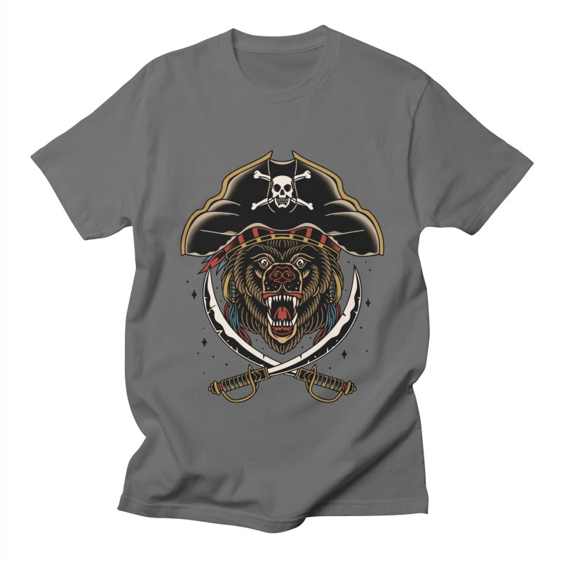Pirate Bear Men's T-Shirt by TerpeneTom's Artist Shop