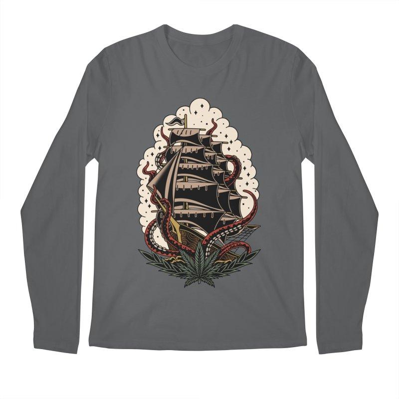 Pirate Ship Men's Longsleeve T-Shirt by TerpeneTom's Artist Shop
