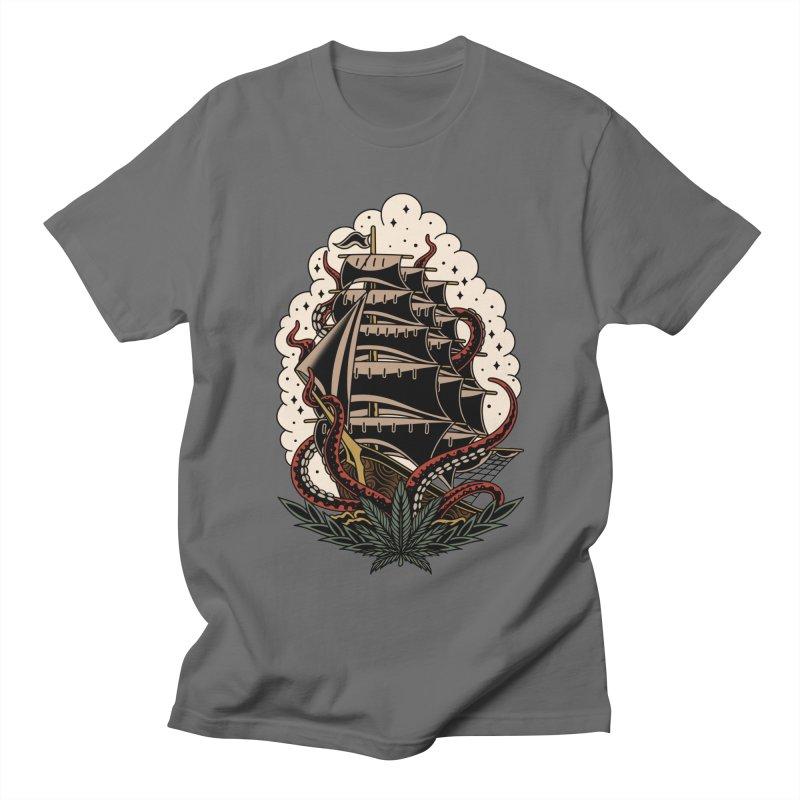 Pirate Ship Men's T-Shirt by TerpeneTom's Artist Shop