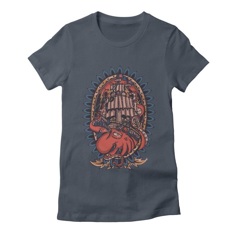 The Kraken Women's T-Shirt by TerpeneTom's Artist Shop