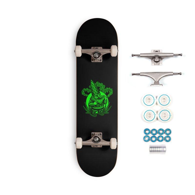Green Gnome Accessories Skateboard by TerpeneTom's Artist Shop