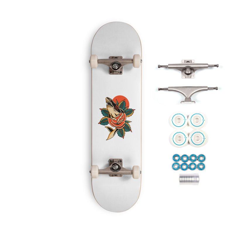 Shark Attack Accessories Skateboard by TerpeneTom's Artist Shop