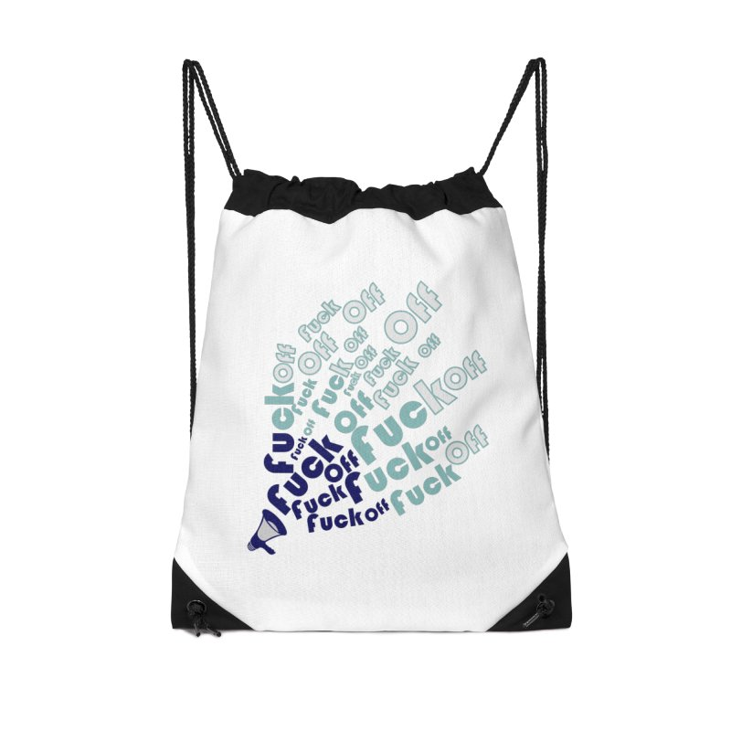 F**k Accessories Drawstring Bag Bag by TerrificPain's Artist Shop by SaulTP