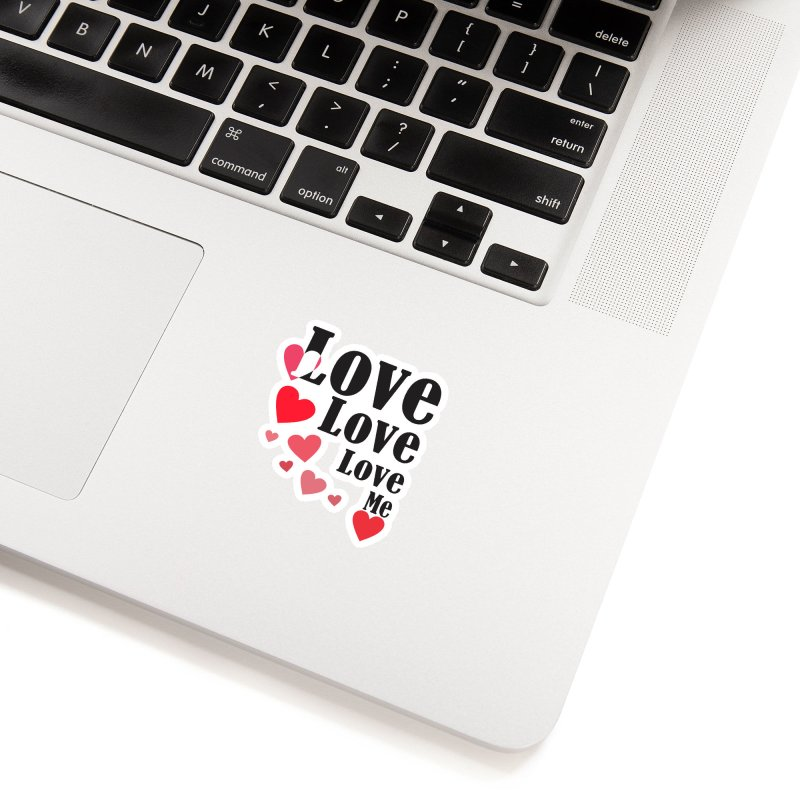 Love... me Accessories Sticker by TerrificPain's Artist Shop by SaulTP