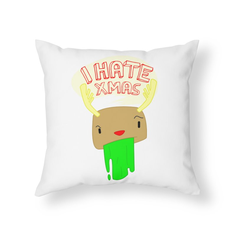 Hate it! Home Throw Pillow by TerrificPain's Artist Shop