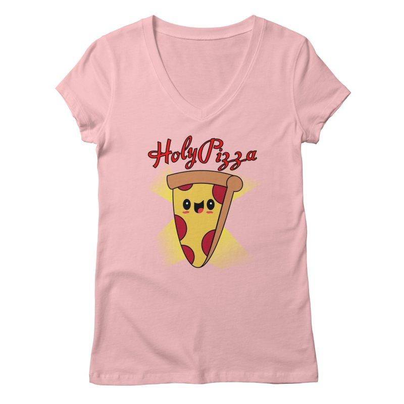 Holy Pizza Women's V-Neck by TerrificPain's Artist Shop by SaulTP