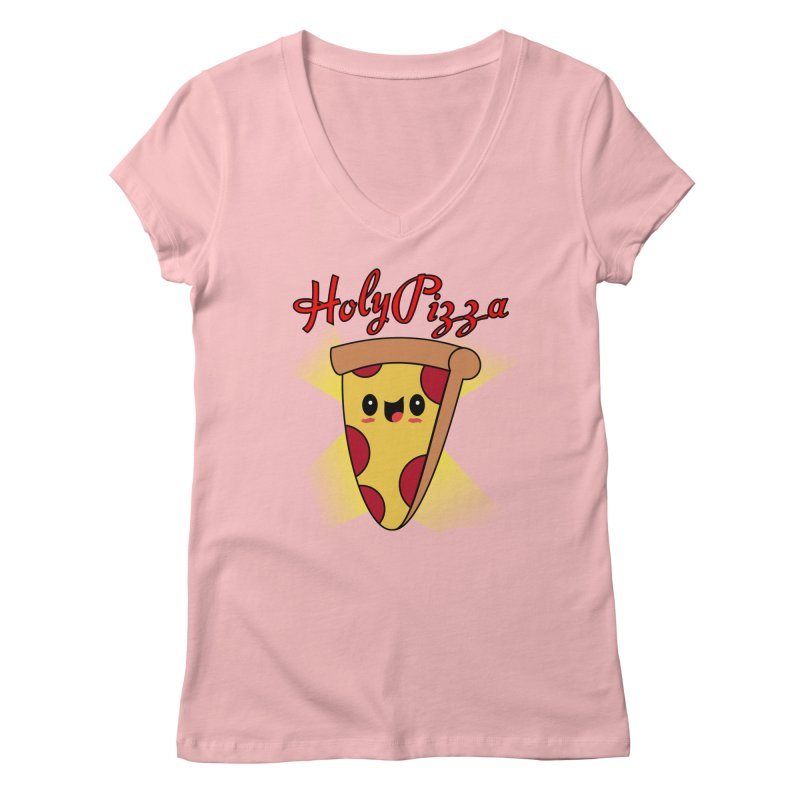 Holy Pizza Women's V-Neck by TerrificPain's Artist Shop by SaulTP