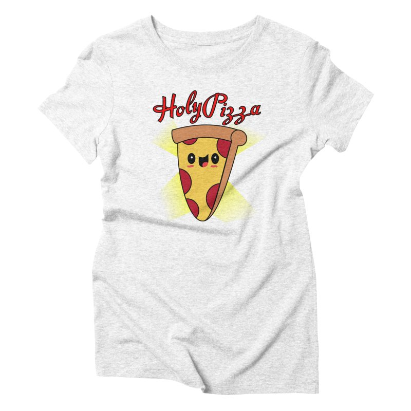Holy Pizza Women's Triblend T-shirt by TerrificPain's Artist Shop