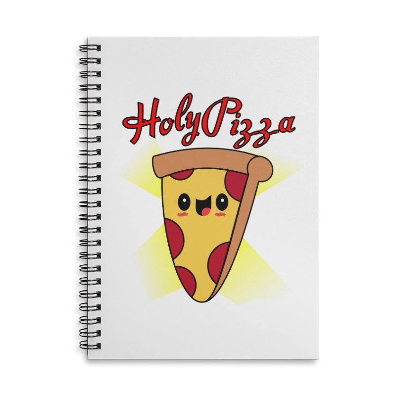 Holy Pizza Accessories Lined Spiral Notebook by TerrificPain's Artist Shop by SaulTP