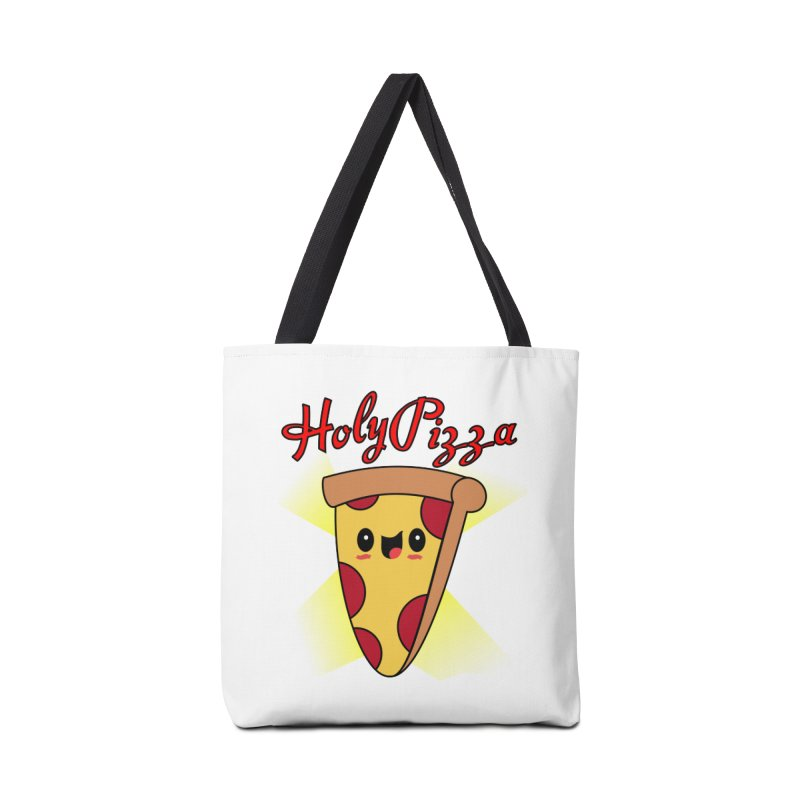 Holy Pizza Accessories Tote Bag Bag by TerrificPain's Artist Shop by SaulTP