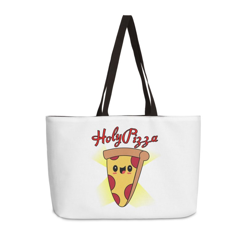 Holy Pizza Accessories Weekender Bag Bag by TerrificPain's Artist Shop by SaulTP
