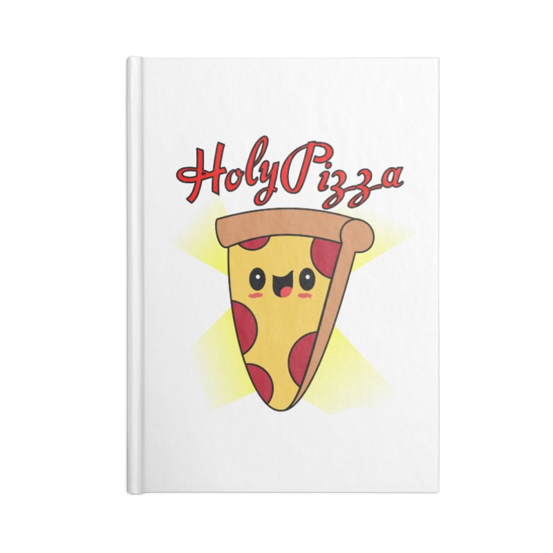 Holy Pizza Accessories Blank Journal Notebook by TerrificPain's Artist Shop by SaulTP