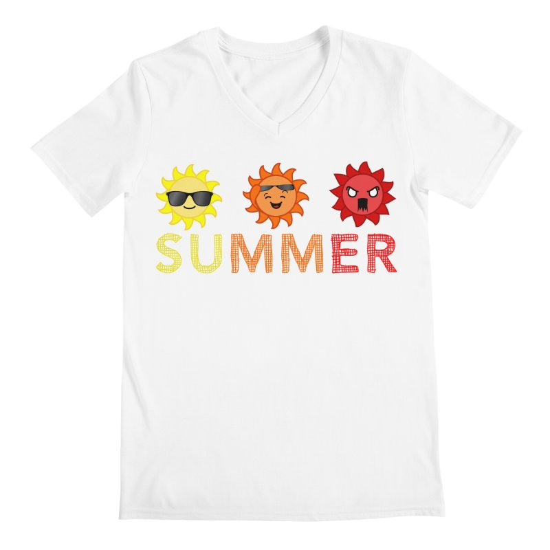 Summer time Men's V-Neck by TerrificPain's Artist Shop