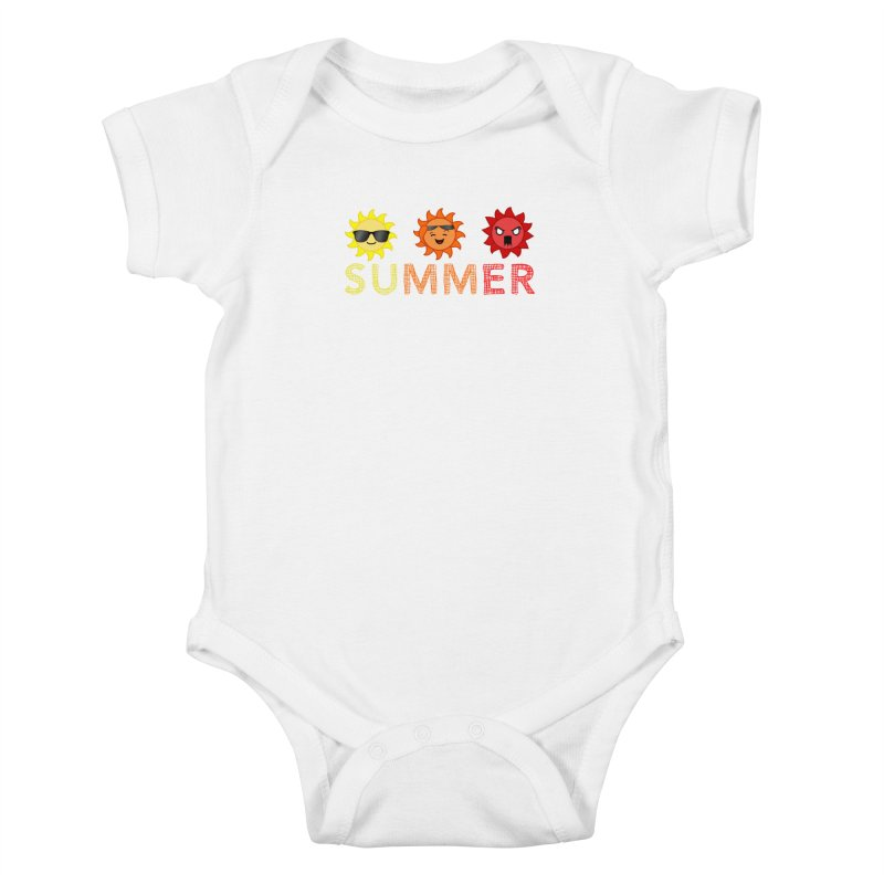 Summer time Kids Baby Bodysuit by TerrificPain's Artist Shop