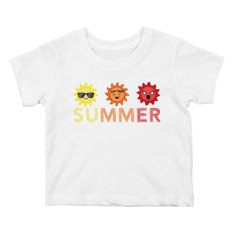 Summer time Kids Baby T-Shirt by TerrificPain's Artist Shop
