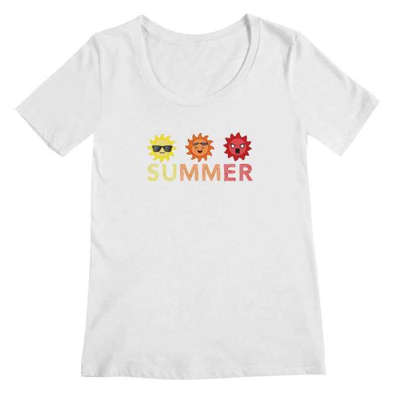 Summer time Women's Scoopneck by TerrificPain's Artist Shop