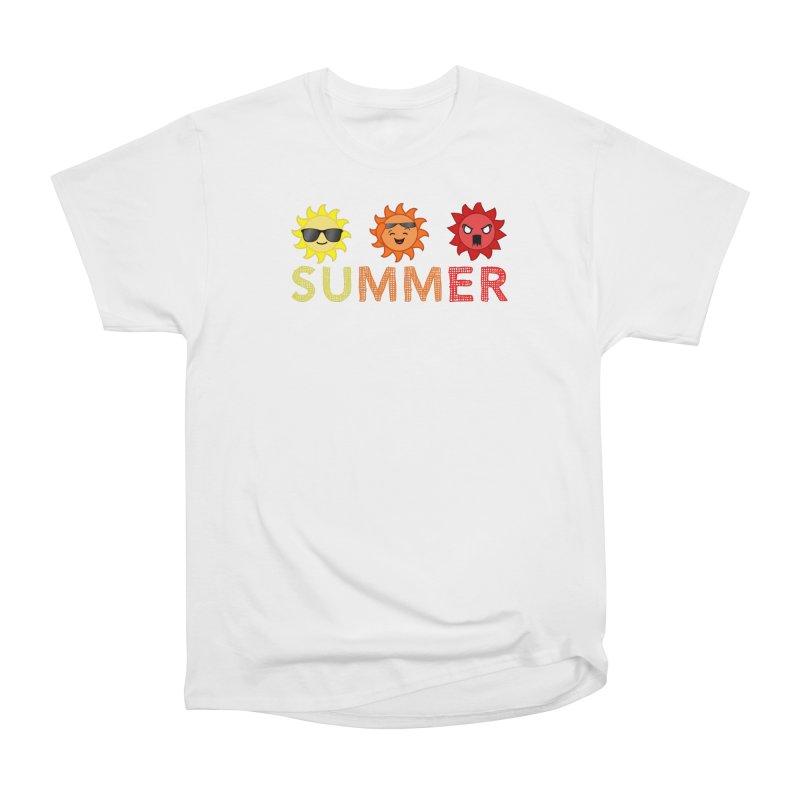 Summer time Women's Heavyweight Unisex T-Shirt by TerrificPain's Artist Shop by SaulTP