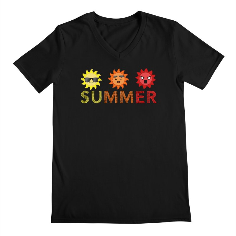 Summer time Men's Regular V-Neck by TerrificPain's Artist Shop by SaulTP