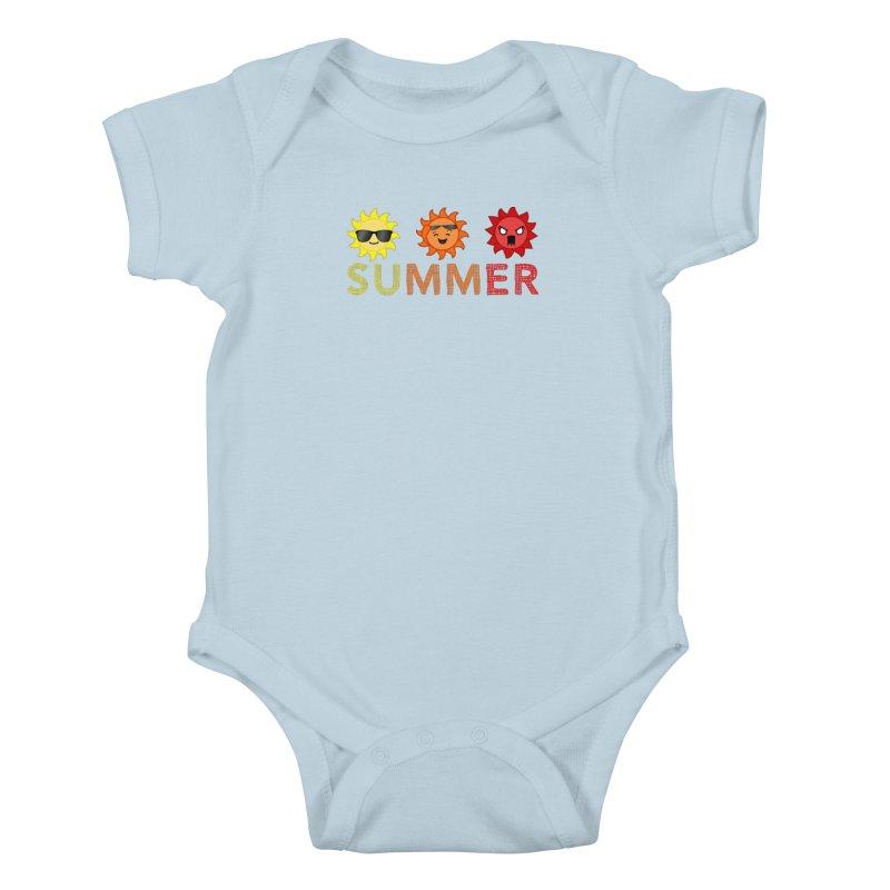 Summer time Kids Baby Bodysuit by TerrificPain's Artist Shop by SaulTP