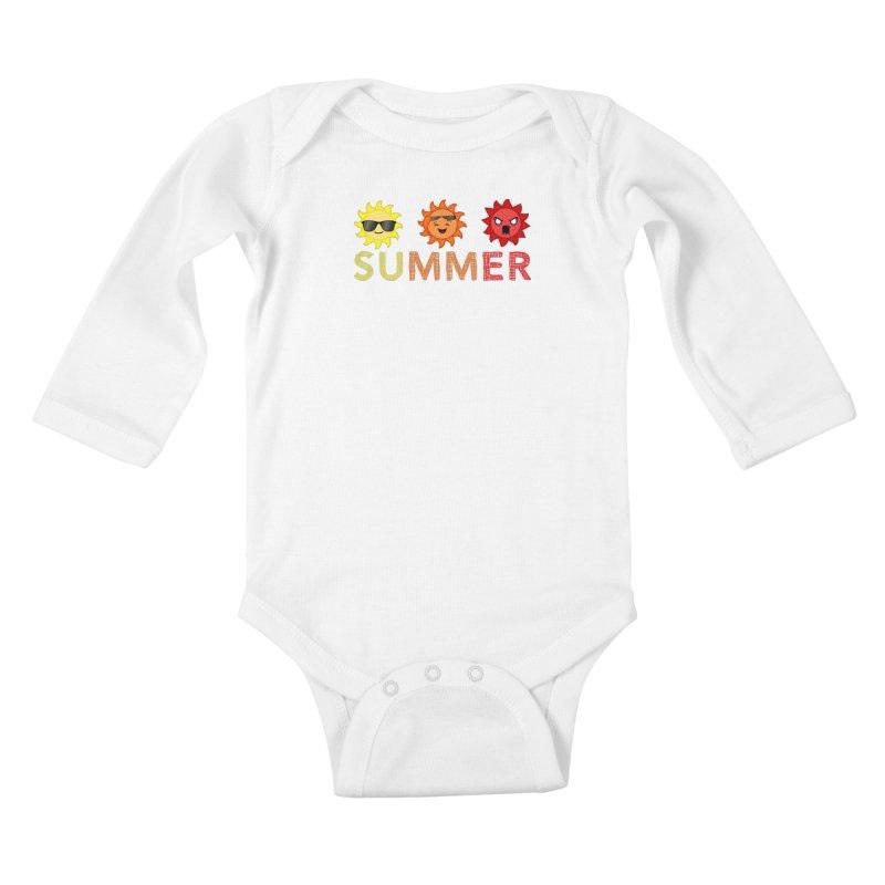 Summer time Kids Baby Longsleeve Bodysuit by TerrificPain's Artist Shop by SaulTP