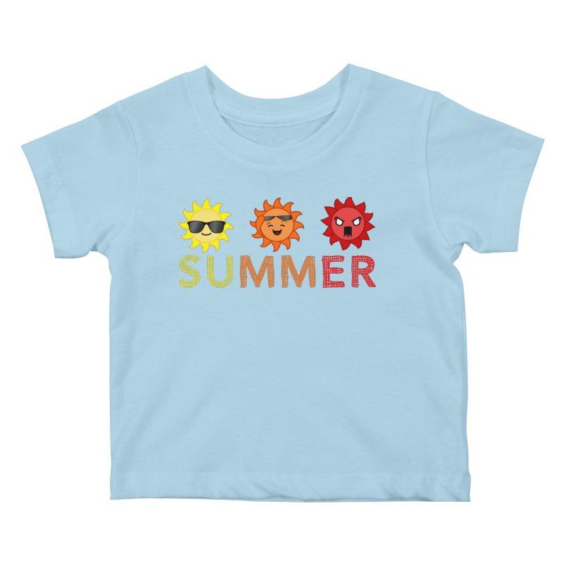 Summer time Kids Baby T-Shirt by TerrificPain's Artist Shop by SaulTP