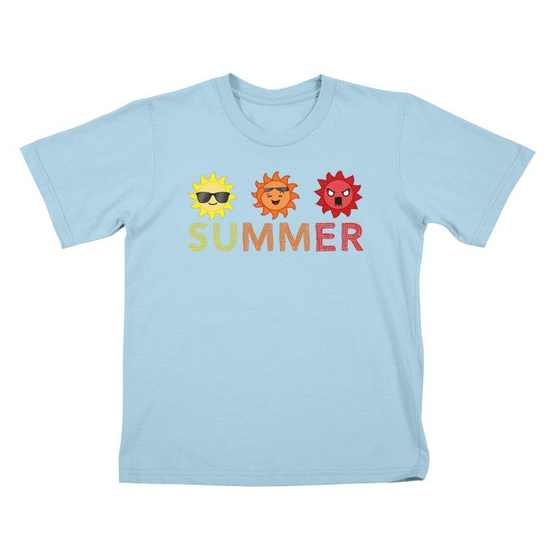 Summer time Kids T-Shirt by TerrificPain's Artist Shop by SaulTP