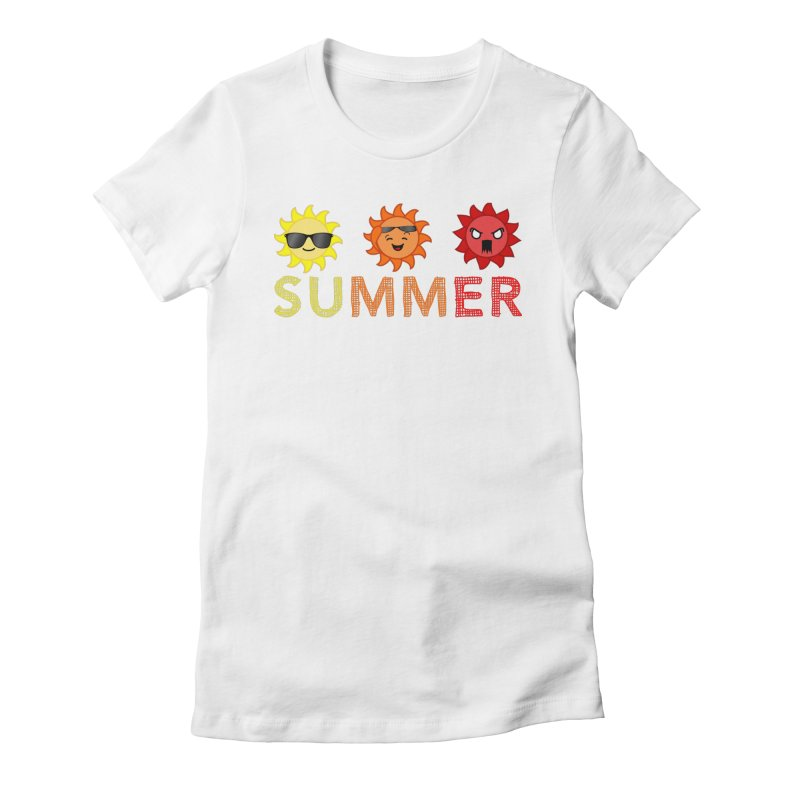 Summer time Women's Fitted T-Shirt by TerrificPain's Artist Shop by SaulTP