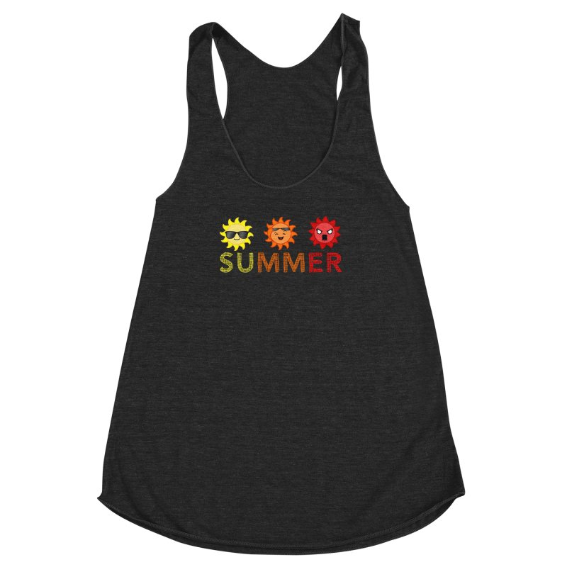 Summer time Women's Racerback Triblend Tank by TerrificPain's Artist Shop by SaulTP