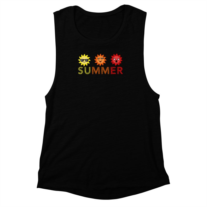 Summer time Women's Muscle Tank by TerrificPain's Artist Shop by SaulTP