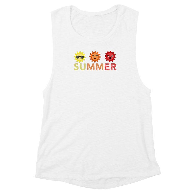 Summer time Women's Muscle Tank by TerrificPain's Artist Shop by SaulTP
